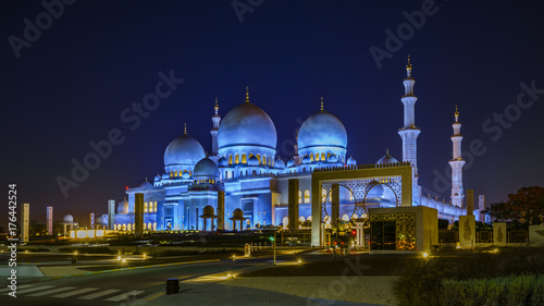 Fotobehang Abu Dhabi Sheikh Zayed Grand Mosque in Abu Dhabi 7
