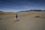 Man in Great Sand Dunes National Park. Colorado - 176443902