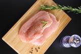 turkey steak rosemary, cooking - 176446185