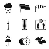 Breeze icons set, simple style - 176447749