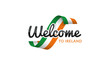 Welcome to Ireland flag sign logo icon - 176448305