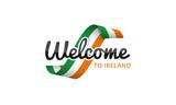 Welcome to Ireland flag sign logo icon