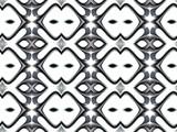 Silver Strange Shapes Pattern - 176460544
