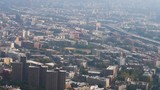 An aerial view of The Bronx on a late hazy morning. - 176466743
