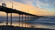 Colorful sunset at the Ocean Beach Pier, California, USA - 176468349
