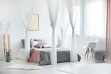 Cozy bright bedroom interior - 176480164