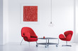 Quadro Room with two chairs