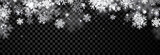 Black winter banner with snowflakes. - 176483548