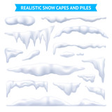 Snow Capes And Piles Set - 176485379