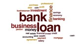 Bank loan animated word cloud, text design animation. - 176488790