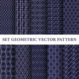 Luxury navy vector patterns pack - 176494789