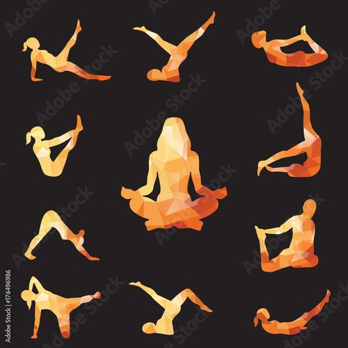Fototapeta illustration yoga