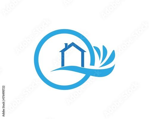 Building home nature logo design - 176498722