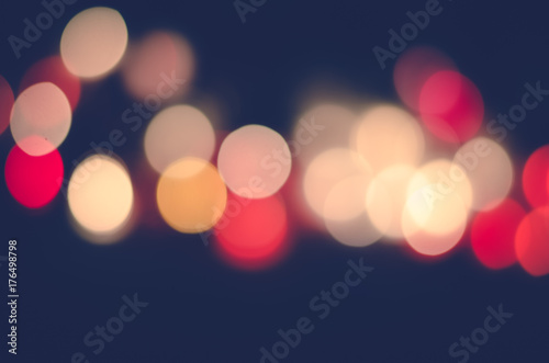 abstract colorful bokeh lights background Poster