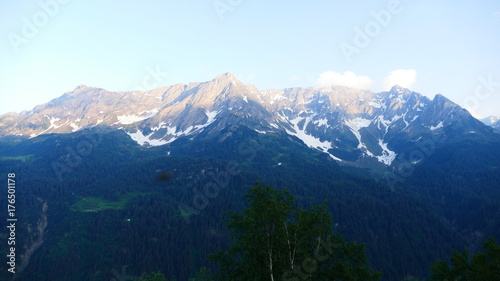 Deurstickers Nachtblauw Am Gotthardpass