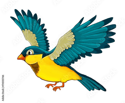 Cartoon animal - bird flying - illustration for children - 176503766