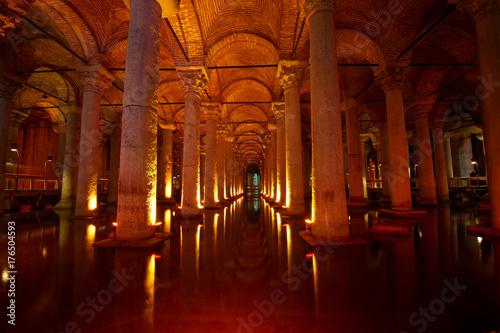 Underground Basilica Cistern, Istanbul, Turkey Poster