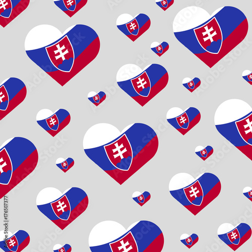 Plakat Slovak-heart-flags-vector