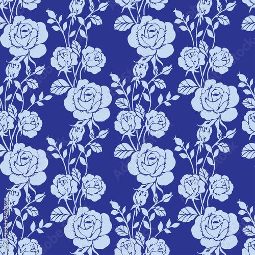 floral  rose pattern seamless - 176507508