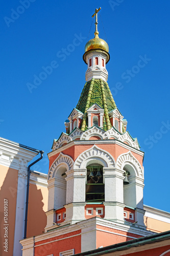 Fotobehang Moskou Moscow, a fragment of an Orthodox Cathedral on the Red square