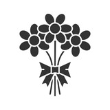 Bunch of flowers glyph icon - 176510144