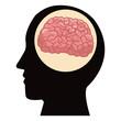 Human brain silhouette icon vector illustration graphic design