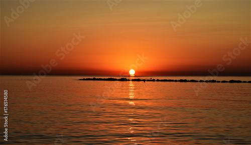 Poster Cyprus Sunrise over Mediterranean Sea.