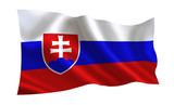 Slovakia flag. A series of flags of the world.