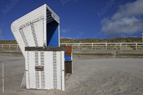 Poster Noordzee Strandkorb an der Nordsee