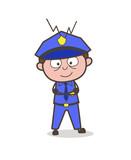 Happy Innocent Cartoon Gatekeeper Character Vector - 176526764
