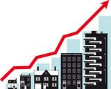 Housing market growth, conceptual vector illustration, EPS 8 - 176529570