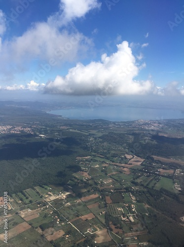 flying in the proximity of Rome airport in Italy