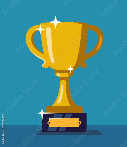 Fototapeta Trophy cup vector illustartion