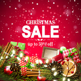Christmas sale flyer - 176538333