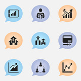 Set Of 9 Editable Analytics Icons. Includes Symbols Such As Progress, Graph Information, Pay Redeem And More. Can Be Used For Web, Mobile, UI And Infographic Design. - 176538557