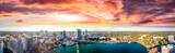Panoramic aerial view of Lake Eola and surrounding buildings, Orlando - Florida - 176540375