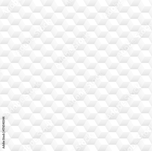 Tapeta Minimalistic clean white 3d cubes vector seamless pattern background design