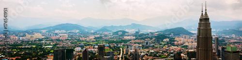 Cityscape of the famous city Kuala Lumpur in Malaysia, Asia