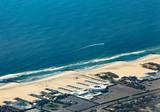 aerial of atlantic coastline near New York