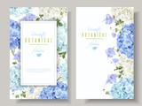 Hydrangea banners blue - 176549308
