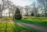 Island Gardens Park with the Greenwich foot tunnel. - 176556562