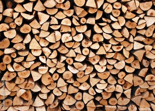 Staande foto Brandhout textuur Sfondo con pila di legna da ardere