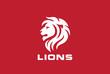 Lion Head Silhouette Logo vector. Wild animal Zoo Logotype icon
