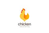 Chicken Farm Logo design vector. Natural Farming Logotype icon - 176566514