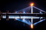 Jätkänkynttilä (Lumberjack Candle) bridge by night. Rovaniemi, Finland.