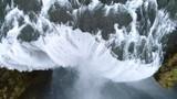 Aerial flight over Seljalandsfoss waterfall, Iceland - 176579371