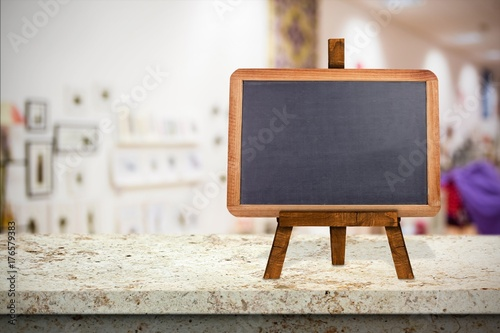 Composite image of image of a blackboard