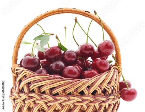 Fotobehang Kersen Cherries in the basket.