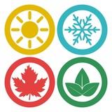Four seasons, season icon - 176589343