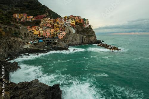 Fridge magnet Manarola, Parco Nazionale delle Cinque Terre, La Spezia, Liguria, Liguria, Italia